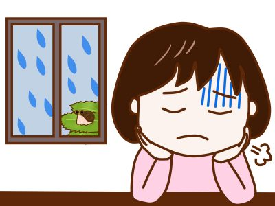 雨の日は気分が乱れがち