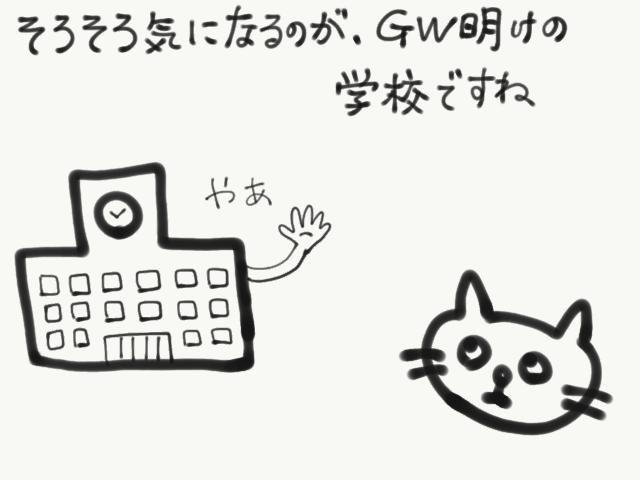 GW ゴールデンウィーク明け 登校